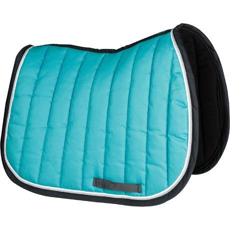 tapis de selle quitation cheval jump bleu turquoise