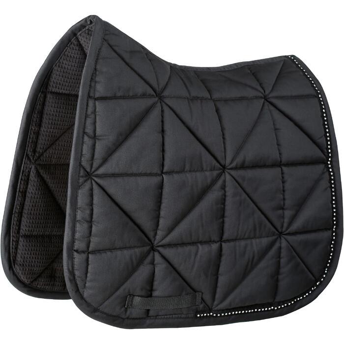 Tapis de selle équitation cheval STRASS dressage noir - 1080992