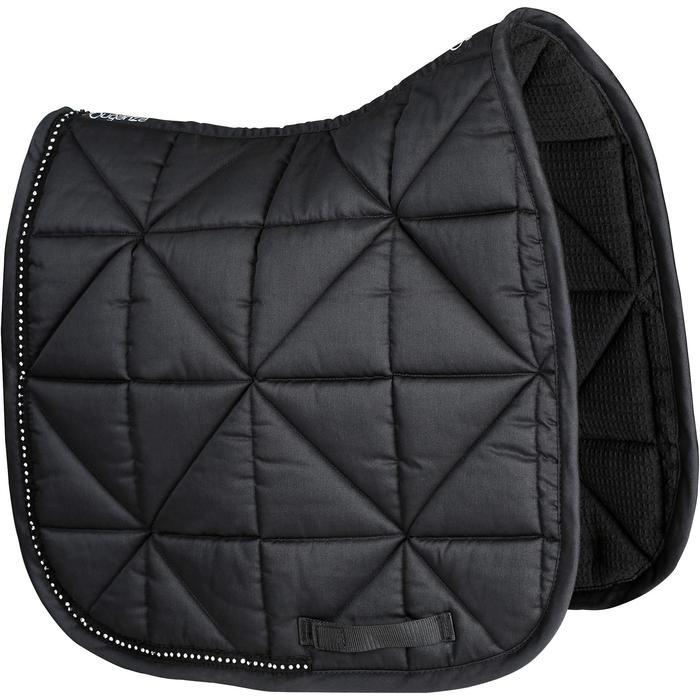 Tapis de selle équitation cheval STRASS dressage noir - 1080994