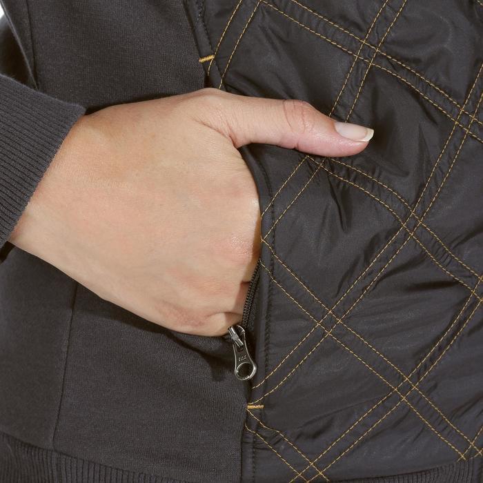 Bi-Material Sweatjacke SW500 Damen grau/camel
