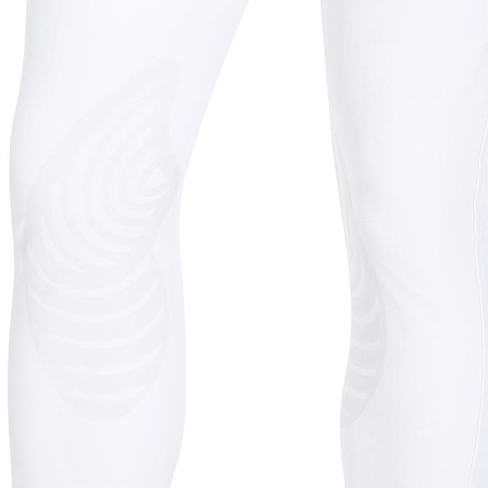 Wedstrijdrijbroek voor heren 560 Grip siliconen knie-inzetten wit