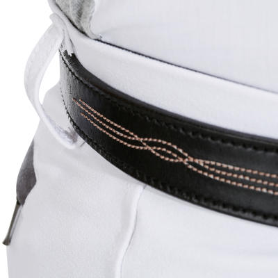 Grip 560 Horse Riding Silicone Patch Competition Jodhpurs - White
