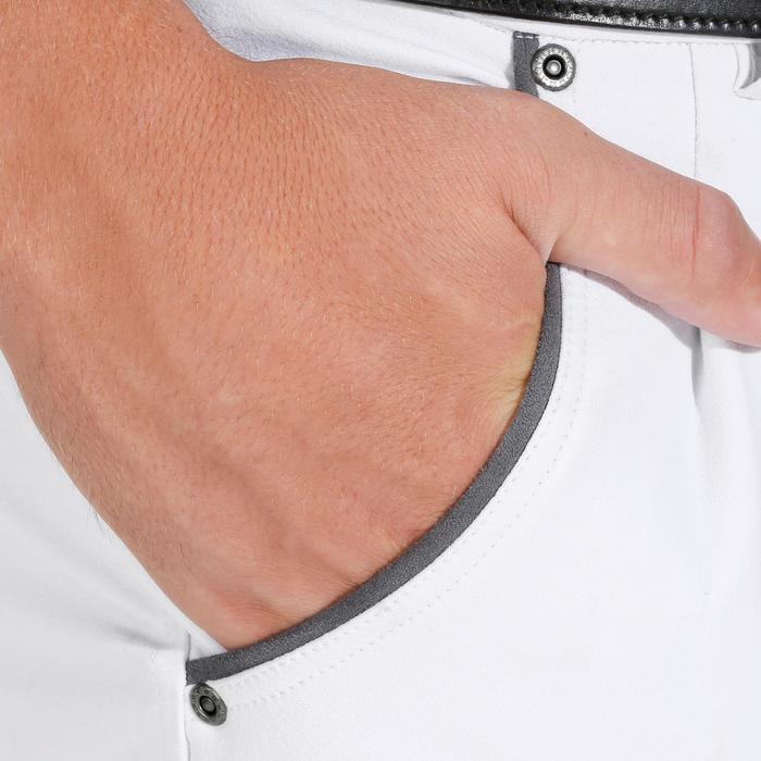 Pantalon Concours équitation homme BR560GRIP basanes silicone blanc - 1081331