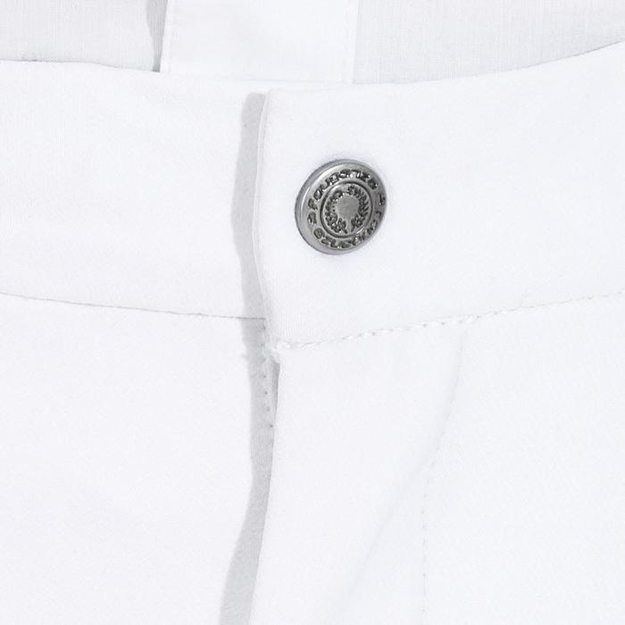 Turnierreithose 560 Silikon Kniebesatz Herren weiß