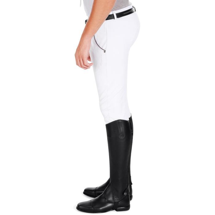 Pantalon Concours équitation homme BR560GRIP basanes silicone blanc - 1081334