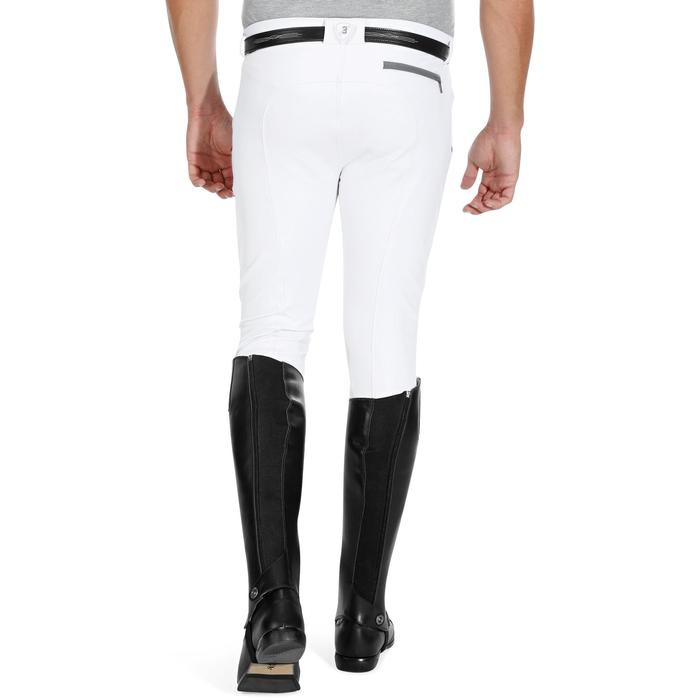 Pantalon Concours équitation homme BR560GRIP basanes silicone blanc - 1081335