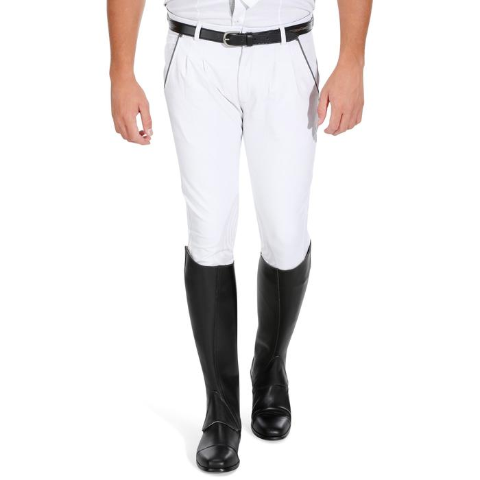 Pantalon Concours équitation homme BR560GRIP basanes silicone blanc - 1081337