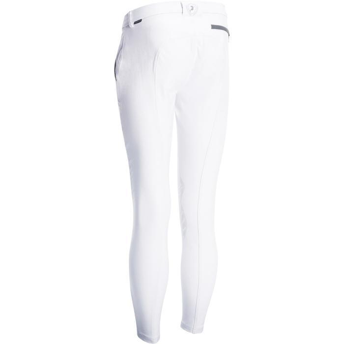Pantalon Concours équitation homme BR560GRIP basanes silicone blanc - 1081338