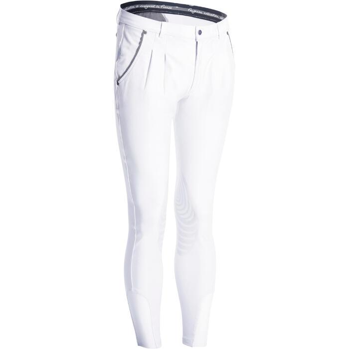 Pantalon Concours équitation homme BR560GRIP basanes silicone blanc - 1081339