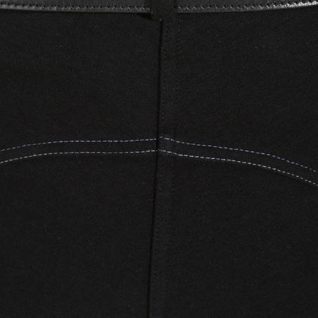 Pantalón equitación Fouganza 140 mujer negro badanas adherentes