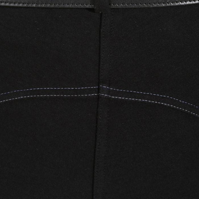 Paardrijbroek 140 dames met antislip inzetstukken zwart