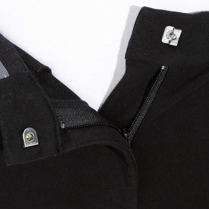 Pantalon équitation femme 140 basanes agrippantes noir