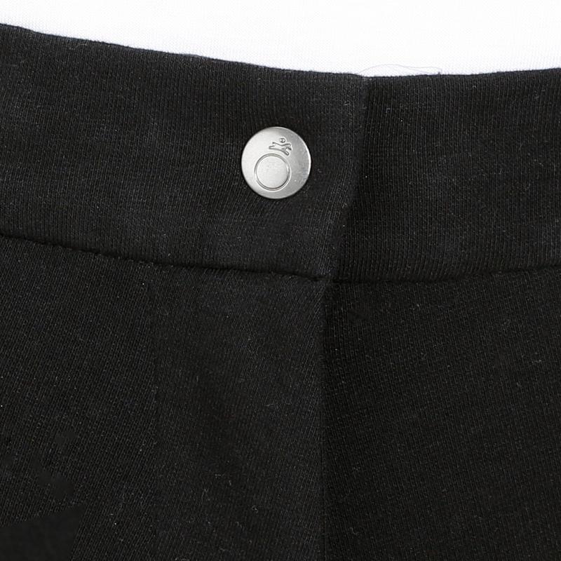 Pantalón de Equitación Mujer 140 Badanas Adherentes Negro