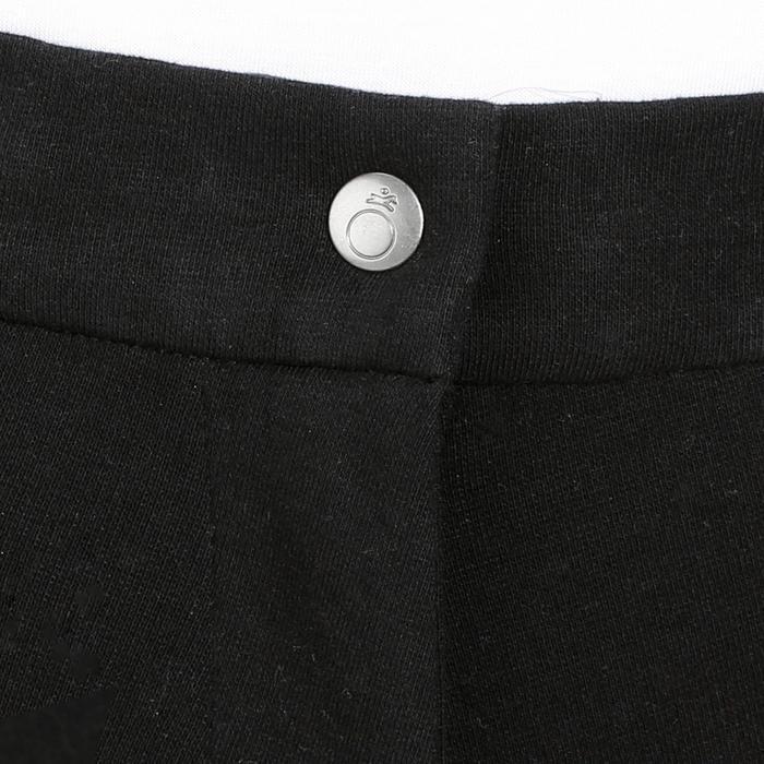 Pantalón equitación mujer BR140 badanas adherentes negro