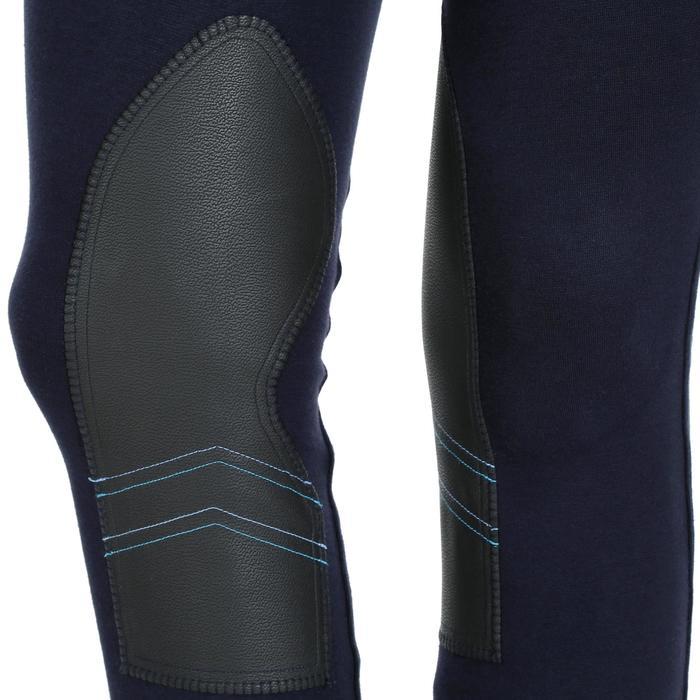 Reithose BR140 mit rutschfestem Kniebesatz Damen marineblau