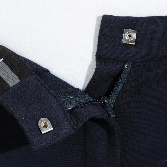 Damesrijbroek 140 antislip inzetstukken marineblauw