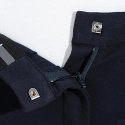 Rijbroek voor dames 140 kniestukken marineblauw