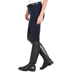 Pantalon équitation femme 140 basanes agrippantes marine