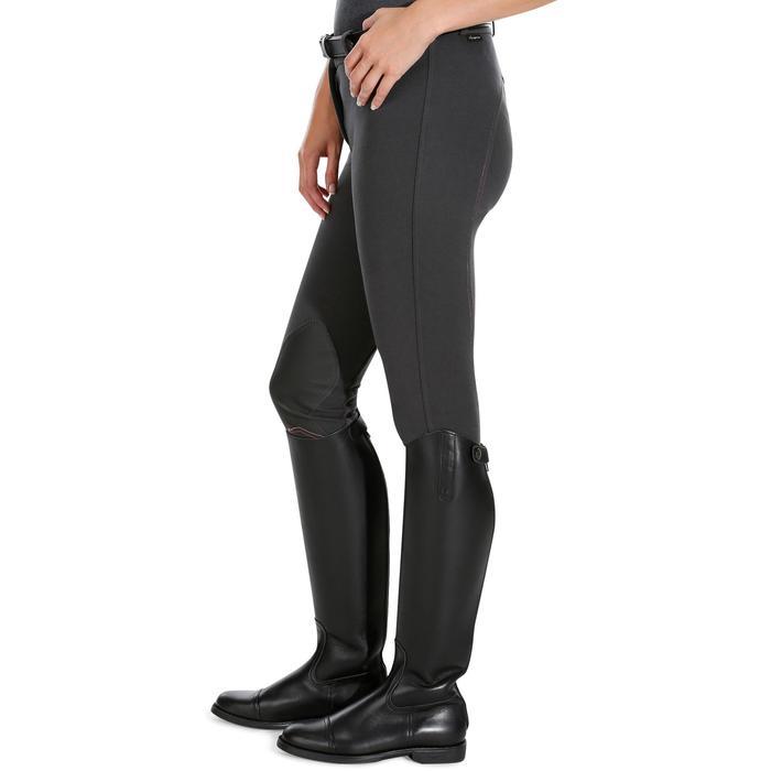 Reithose Victoria Grip rutschfester Kniebesatz Damen karbongrau