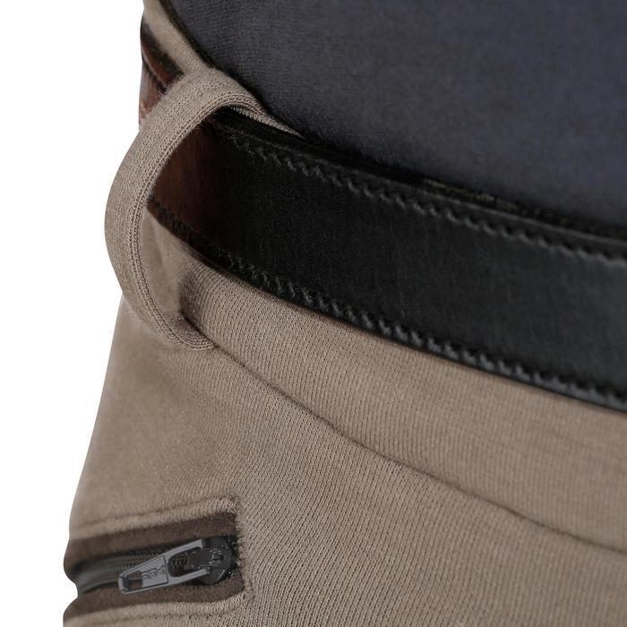 Pantalón badanas equitación hombre BR180 fullseat marrón