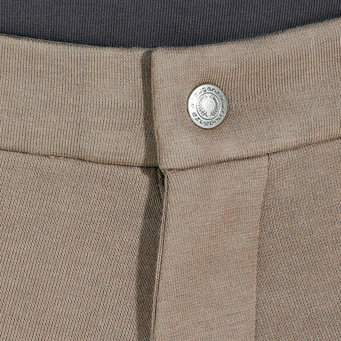Rijbroek met kunstleren zitvlak voor heren ruitersport 180 Fullseat bruin