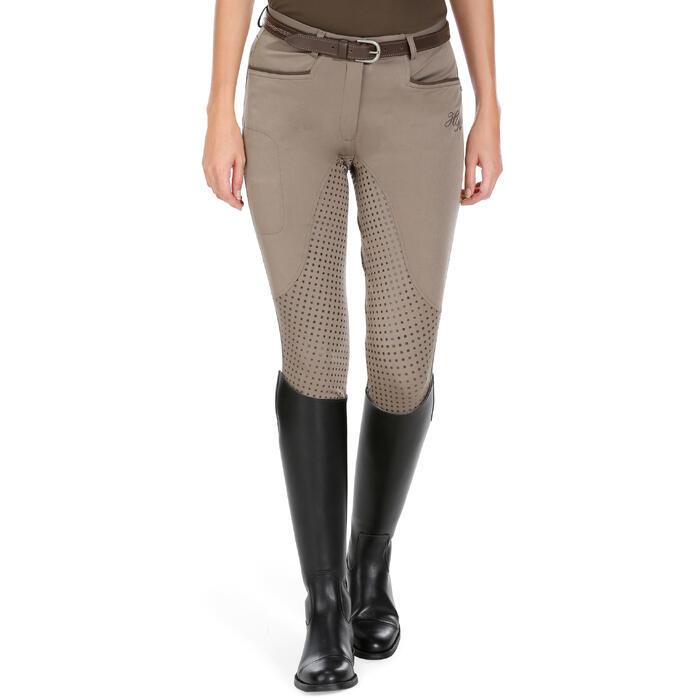 Pantalon équitation femme TRAINING LIGHT bandes silicone - 1081530