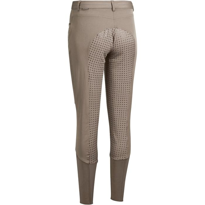 Pantalon équitation femme BR980 LIGHT full grip silicone marron glacé