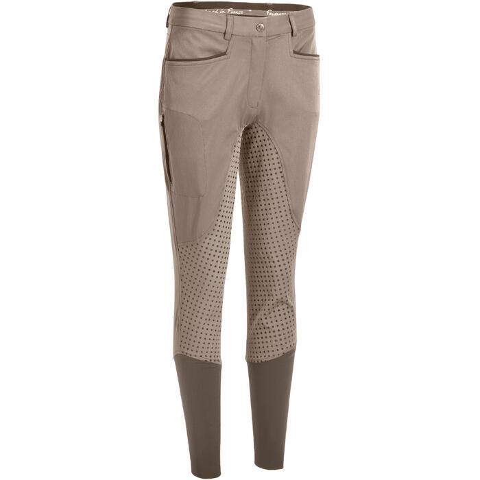Pantalon équitation femme TRAINING LIGHT bandes silicone - 1081532