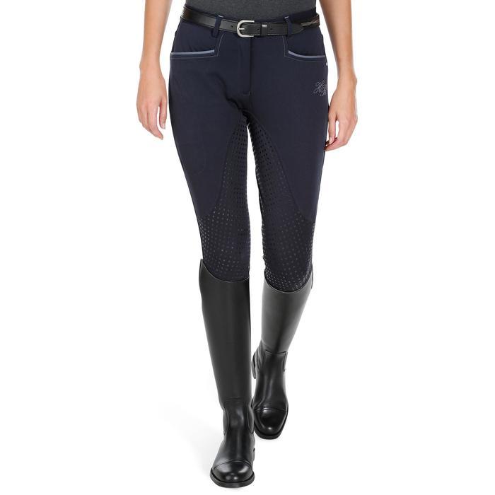 Pantalon équitation femme BR980 LIGHT full grip silicone - 1081548