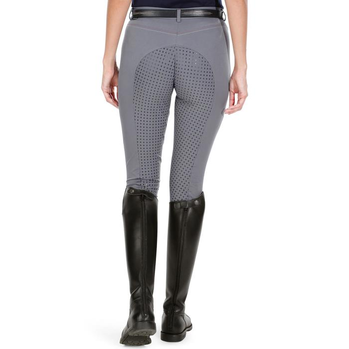 Pantalon équitation femme BR980 LIGHT full grip silicone gris