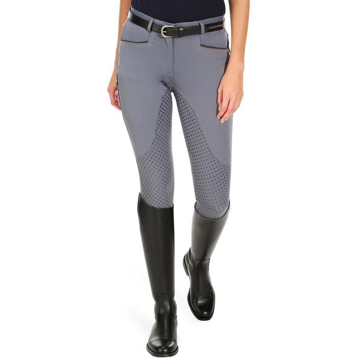 Pantalon équitation femme TRAINING LIGHT bandes silicone - 1081565