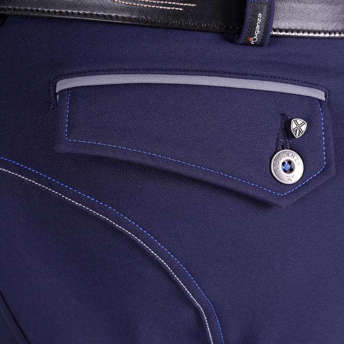 Pantalon équitation homme BR700 basanes gris et chevron - 1081571