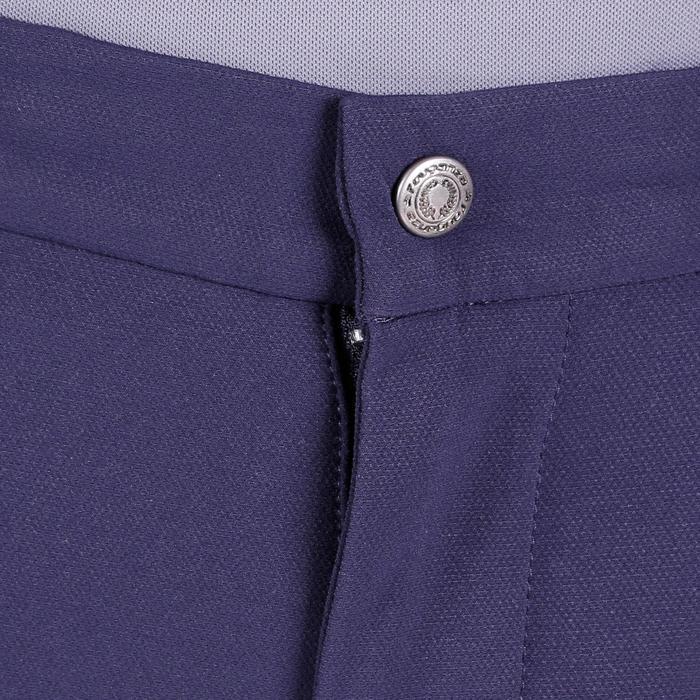 Pantalón Equitación Fouganza Training 700 Hombre Azul Marino Badana Sintética