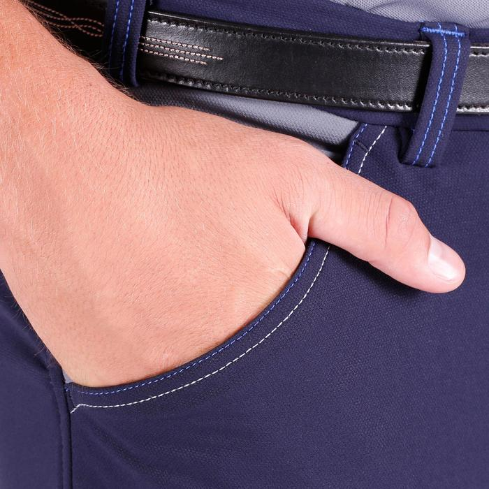 Pantalon équitation homme BR700 basanes gris et chevron - 1081578