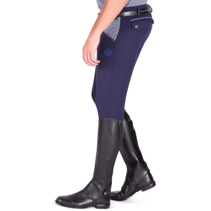 Pantalon équitation homme BR700 basanes gris et chevron - 1081579