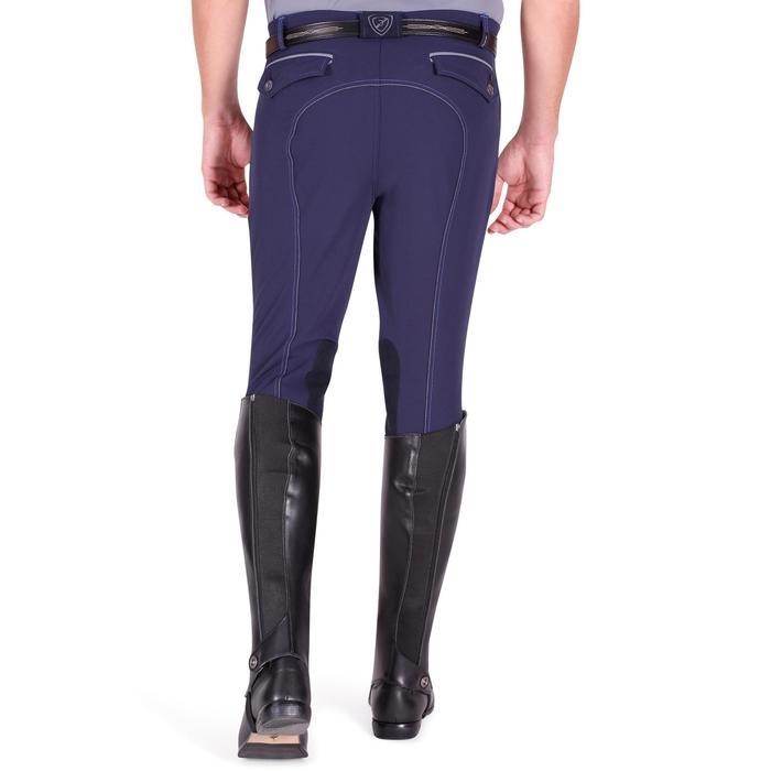 Pantalon équitation homme BR700 basanes gris et chevron - 1081580