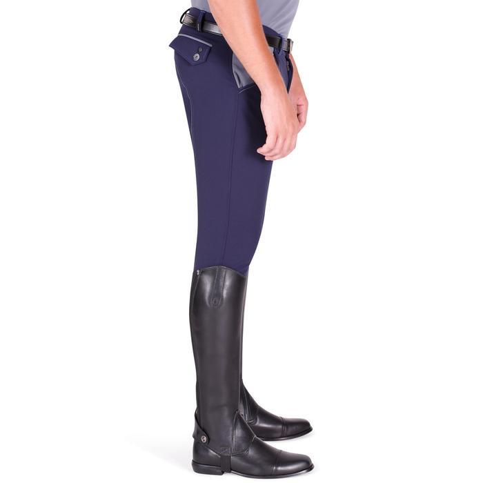 Pantalon équitation homme BR700 basanes gris et chevron - 1081581