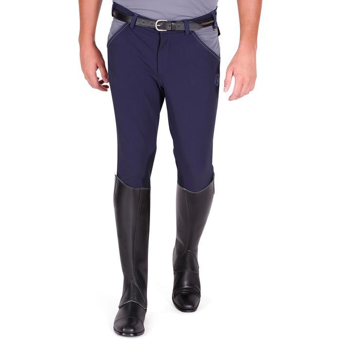 Pantalon équitation homme BR700 basanes gris et chevron - 1081582