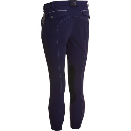 BR700 Horse Riding Patch Jodhpurs - Navy