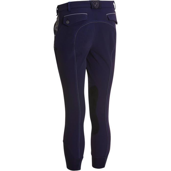 Pantalon équitation homme BR700 basanes gris et chevron - 1081583