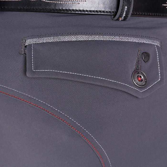 Pantalon équitation homme BR700 basanes gris et chevron - 1081589