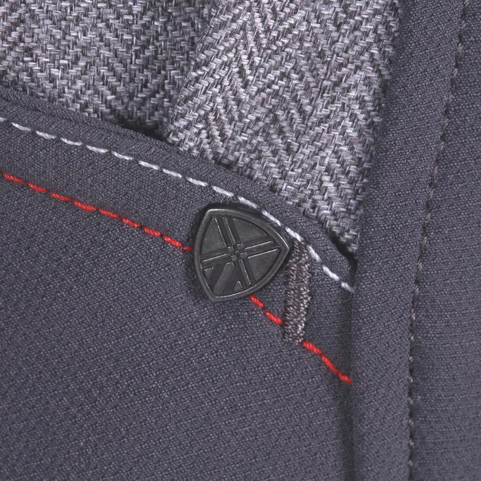 Pantalon équitation homme BR700 basanes gris et chevron - 1081592