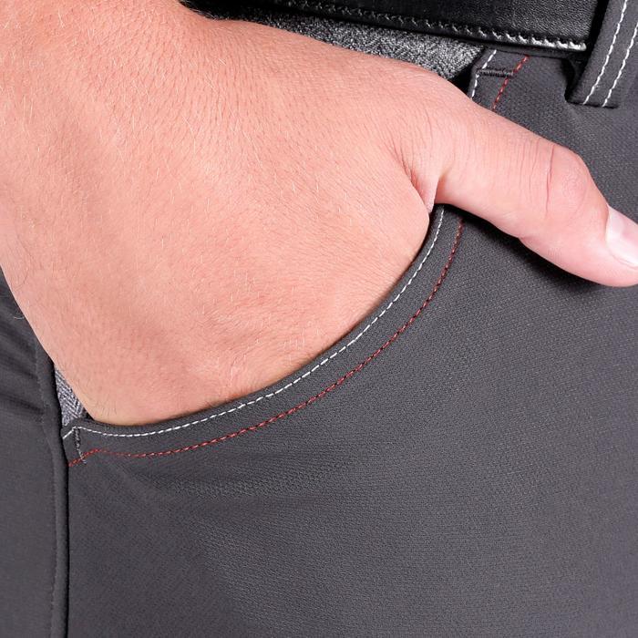 Pantalon équitation homme BR700 basanes gris et chevron - 1081597