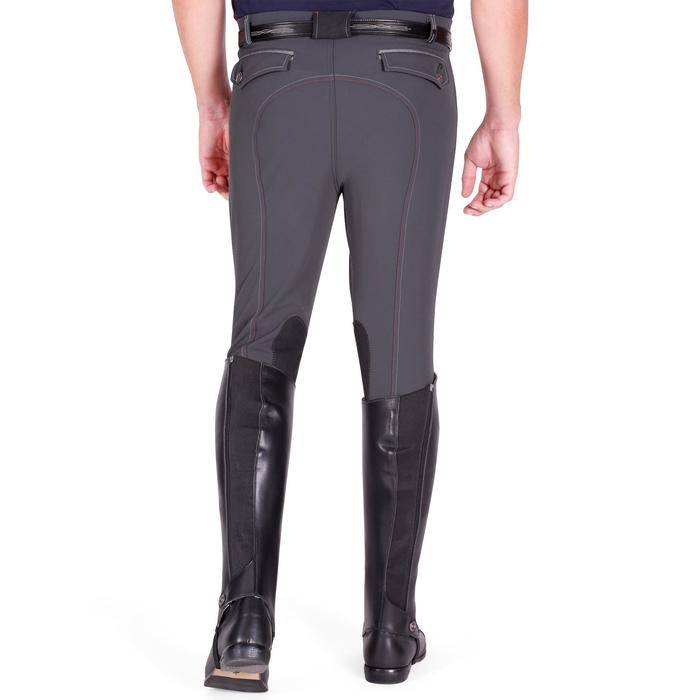 Pantalon équitation homme BR700 basanes gris et chevron - 1081599