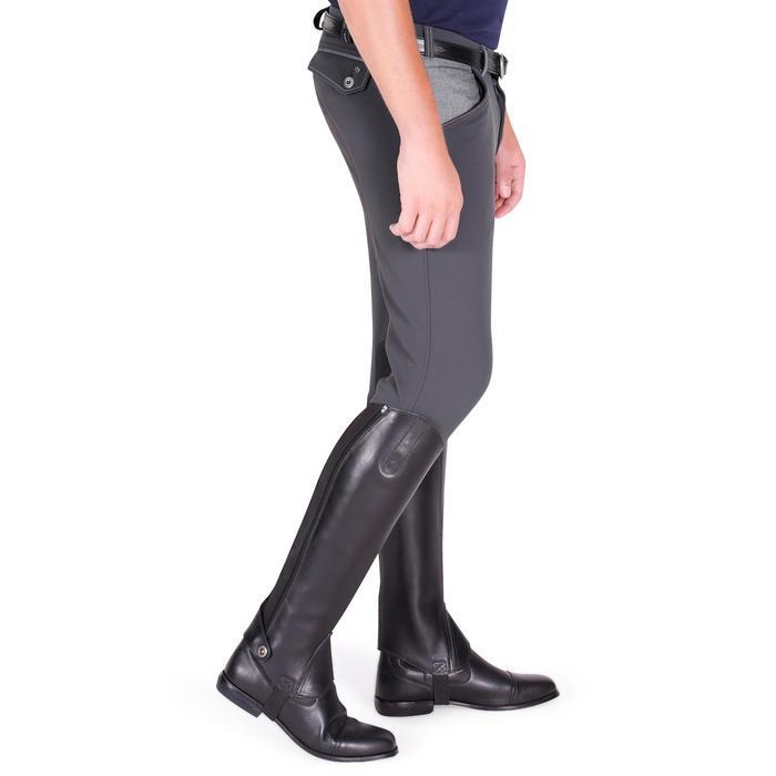 Pantalon équitation homme BR700 basanes gris et chevron - 1081600