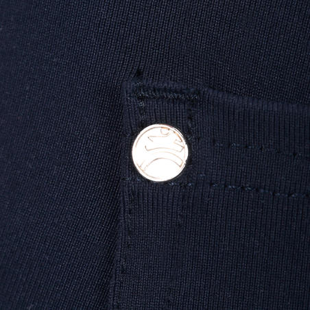 Lengvos vaikiškos jojimo kelnės BR100, tamsiai mėlynos