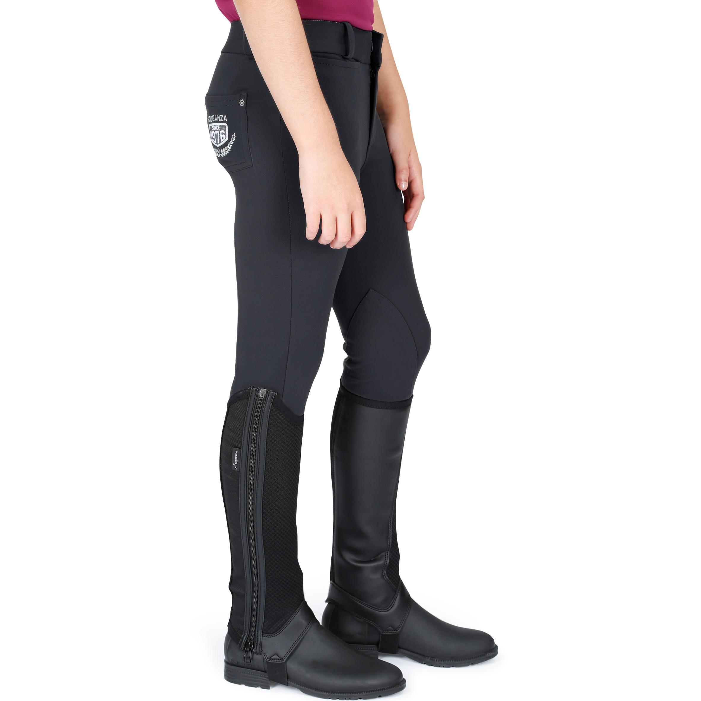 Pantalon équitation enfant BR100 LÉGER gris