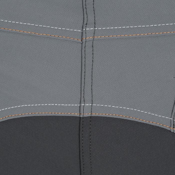 Pantalón de equitación para mujer PERFORMER 500 gris y camel