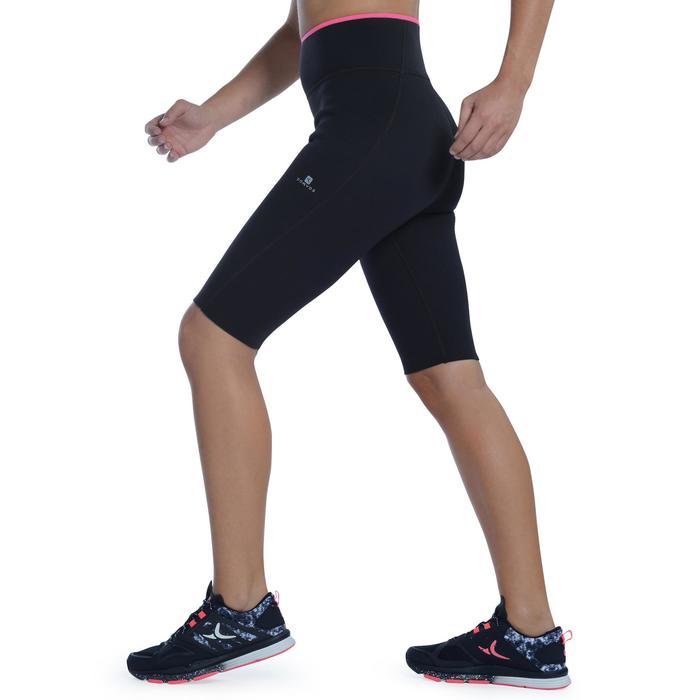 Short de sudación fitness cardio mujer negro