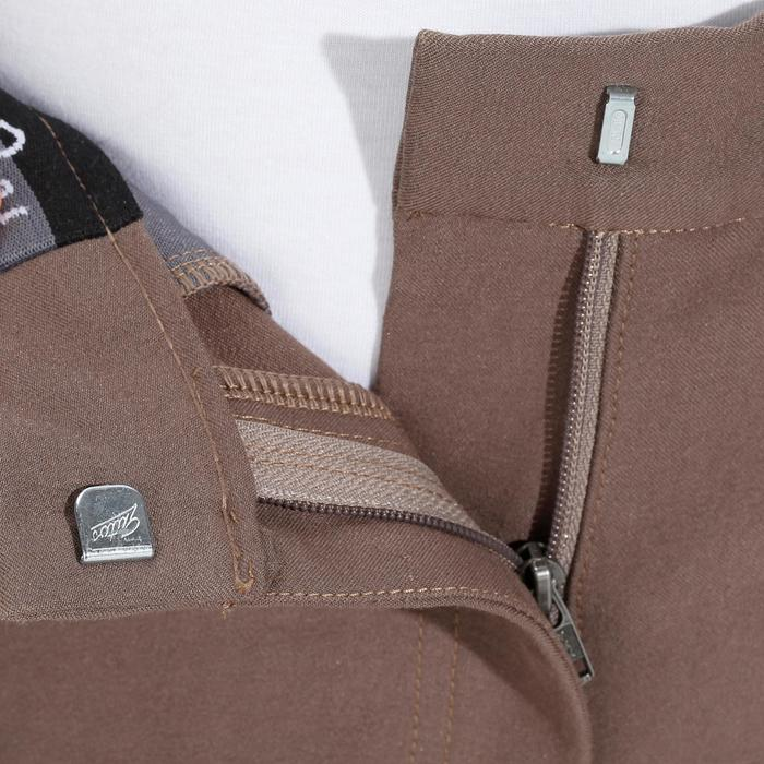 Pantalon équitation femme BR500 basanes marine - 1081965